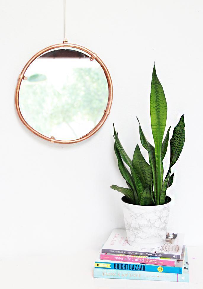 23. DIY Copper Edged Mirror