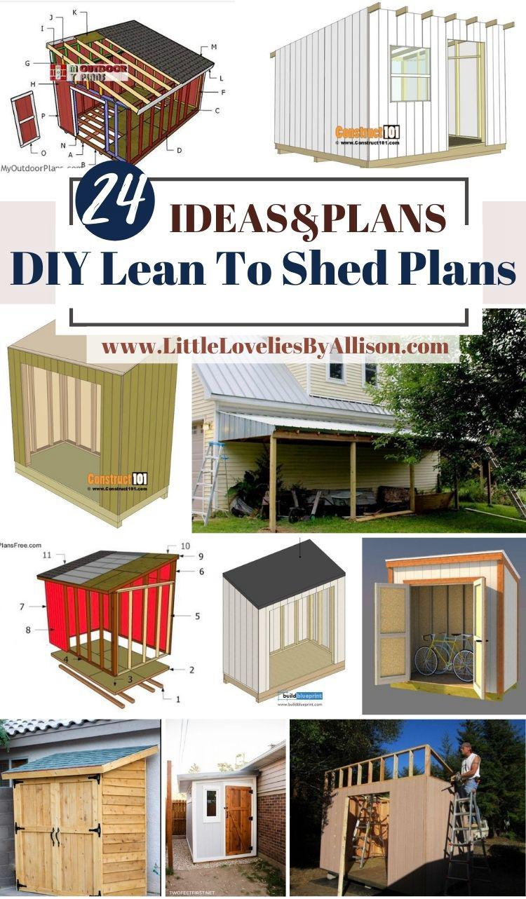 24 DIY Lean To Shed Plans_ How To Build A Lean To Shed