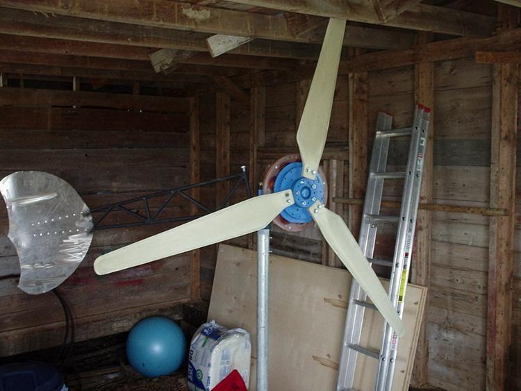 24. 7 Foot Axial Flux Wind Turbine