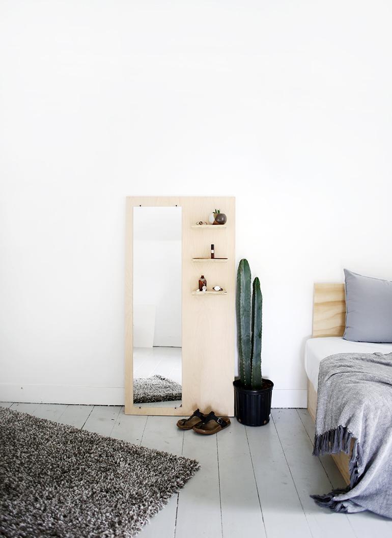24. DIY Plywood Floor Mirror
