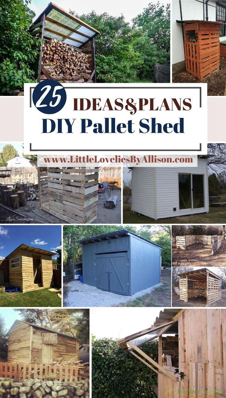 25 DIY Pallet Shed Plans For Storage, Shelter _ More