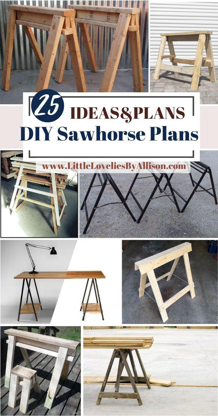25 DIY Sawhorse Plans_ How To Build A Sawhorse Like A Pro