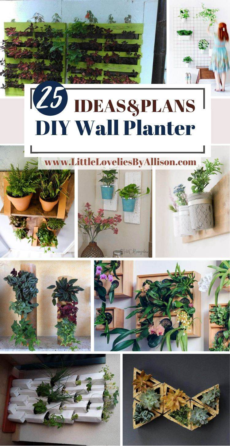 25 DIY Wall Planter Projects That Will Beautify Your Home