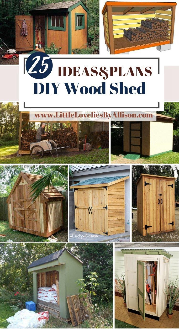 25 Ways To Build A DIY Wood Shed_ Do It Yourself Easily
