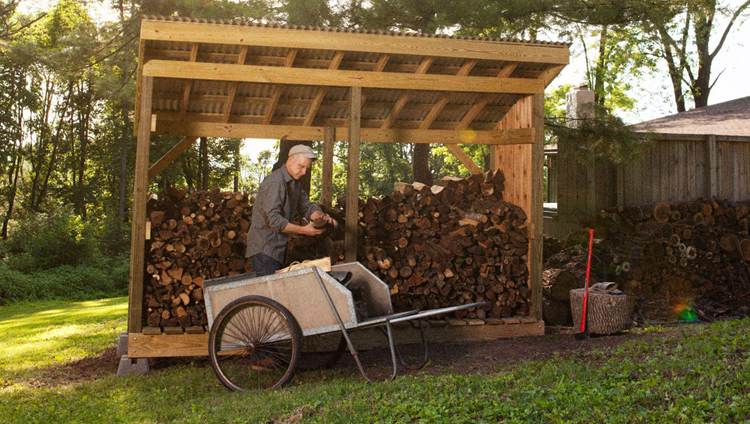 25. How To Build A Firewood Shack