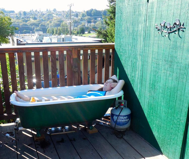 25. Propane Powered Hot Tub DIY