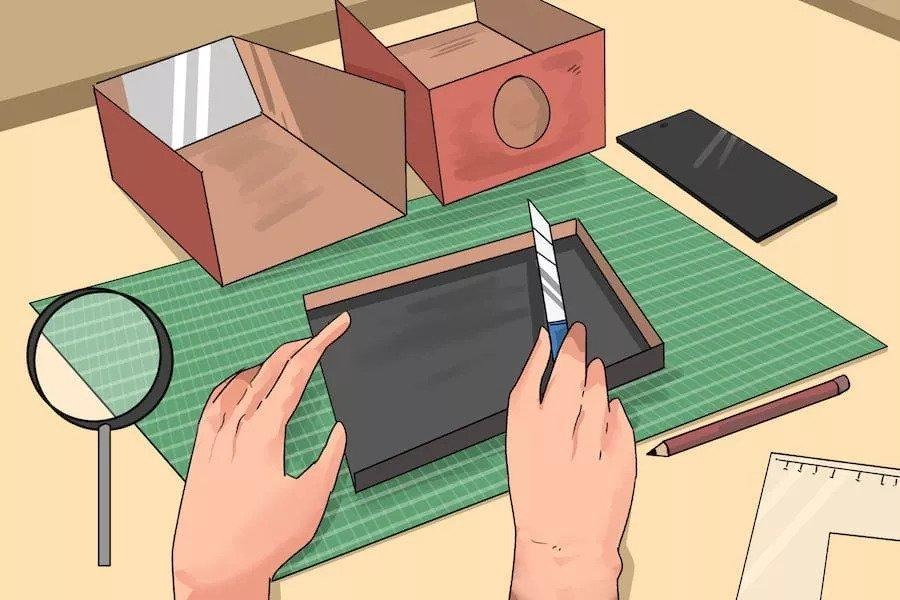3. How To Make A Projector From A Phone And Box