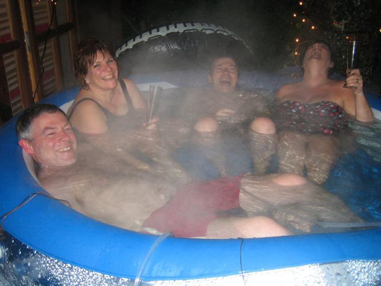 4. DIY HillBilly Hot Tub