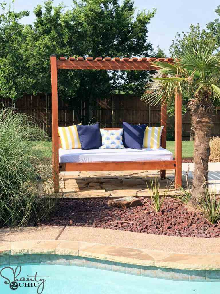 4. DIY Outdoor Daybed