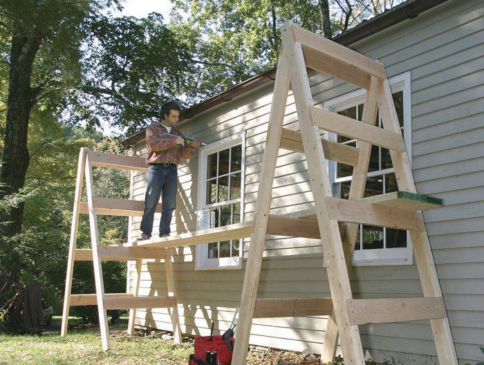 4. Simple Homemade Scaffolding