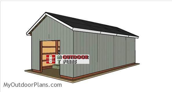 5. 16 x 32 Pole Barn Plans