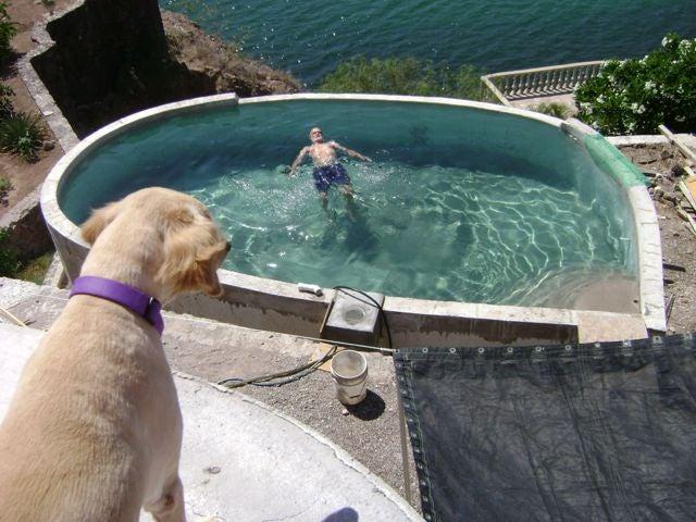 5. DIY Concrete Swimming Pool