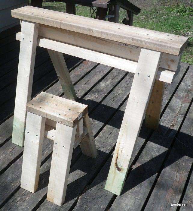 5. DIY Sawhorse Stool