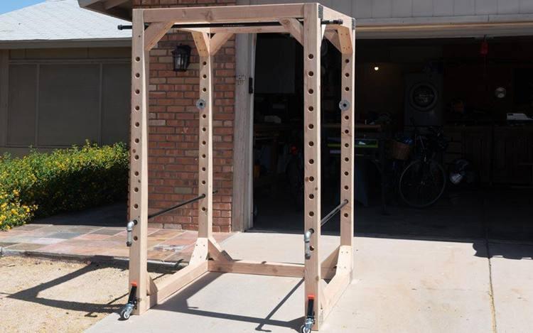5. DIY Weightlifting Power Rack
