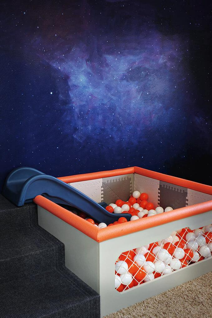 6. DIY Ball Pit With Slide