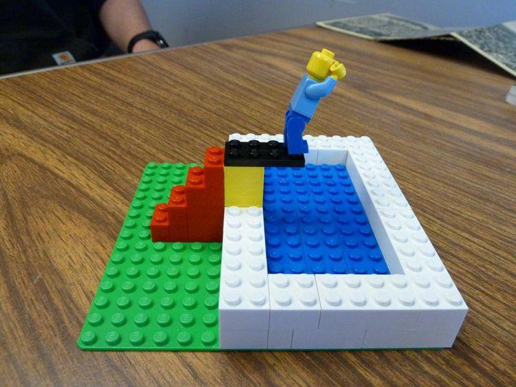 6. DIY Lego Swimming Pool