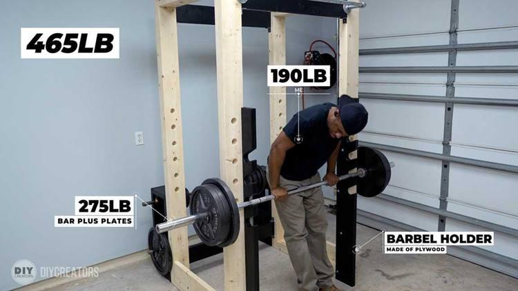 6. Homemade Power Rack Gym