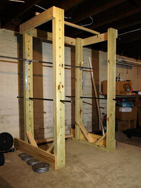 7. DIY Homemade Power Rack