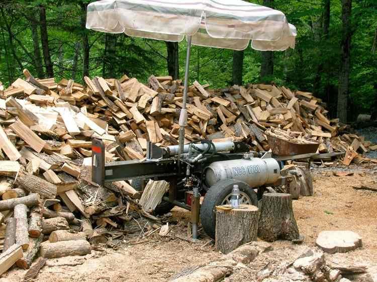 7. DIY Small Log Splitter