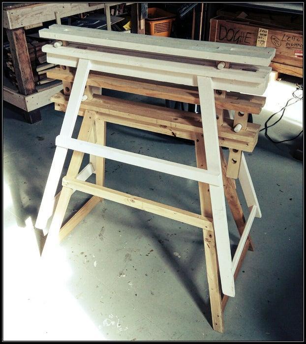 8. Adjustable Wood Sawhorse DIY