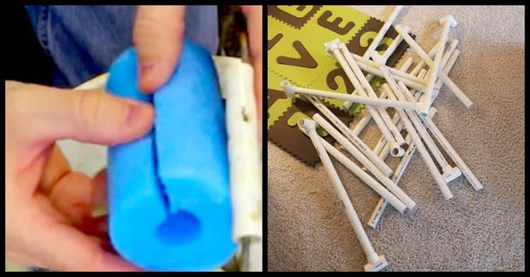 8. Homemade Ball Pit Using Pool Noodles