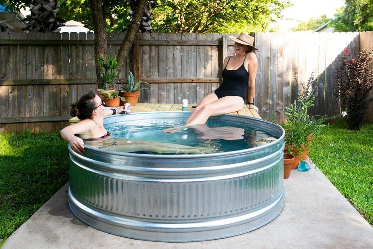 13. DIY8. How To Make A Stock Tank Pool Pallet Swimming Pool
