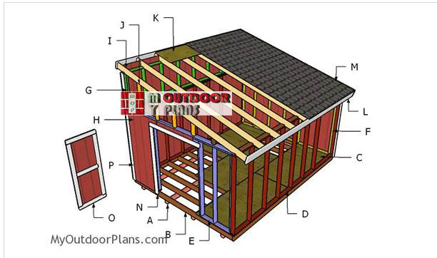 9. 12x16 Lean To Shed Plans
