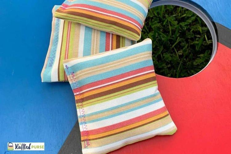 9. DIY Cornhole Bags