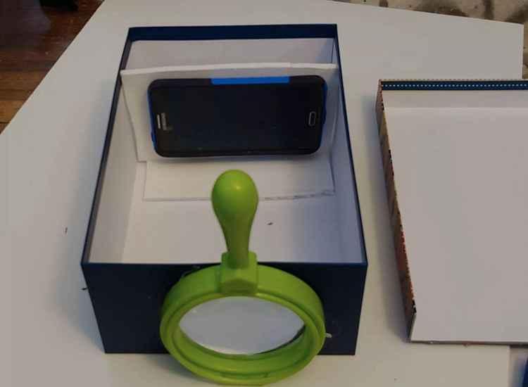 9. DIY Phone Projector