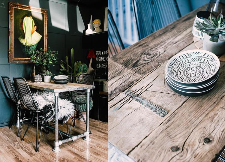 9. DIY Rustic Scaffold Table