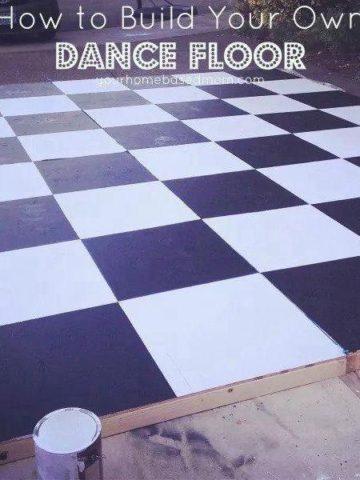 DIY Dance Floor Ideas