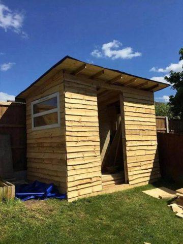 DIY Pallet Shed Plans