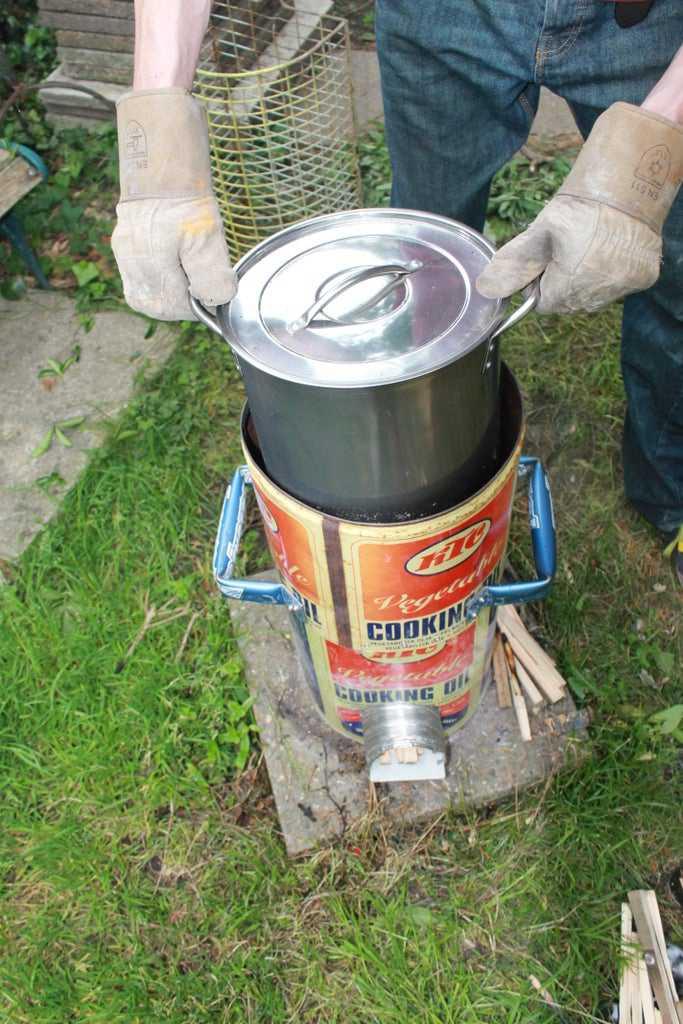 1. DIY Rocket Stove