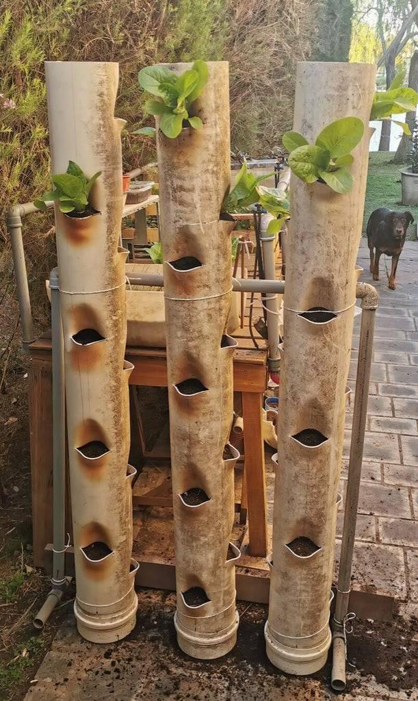 1. DIY Vertical PVC Garden