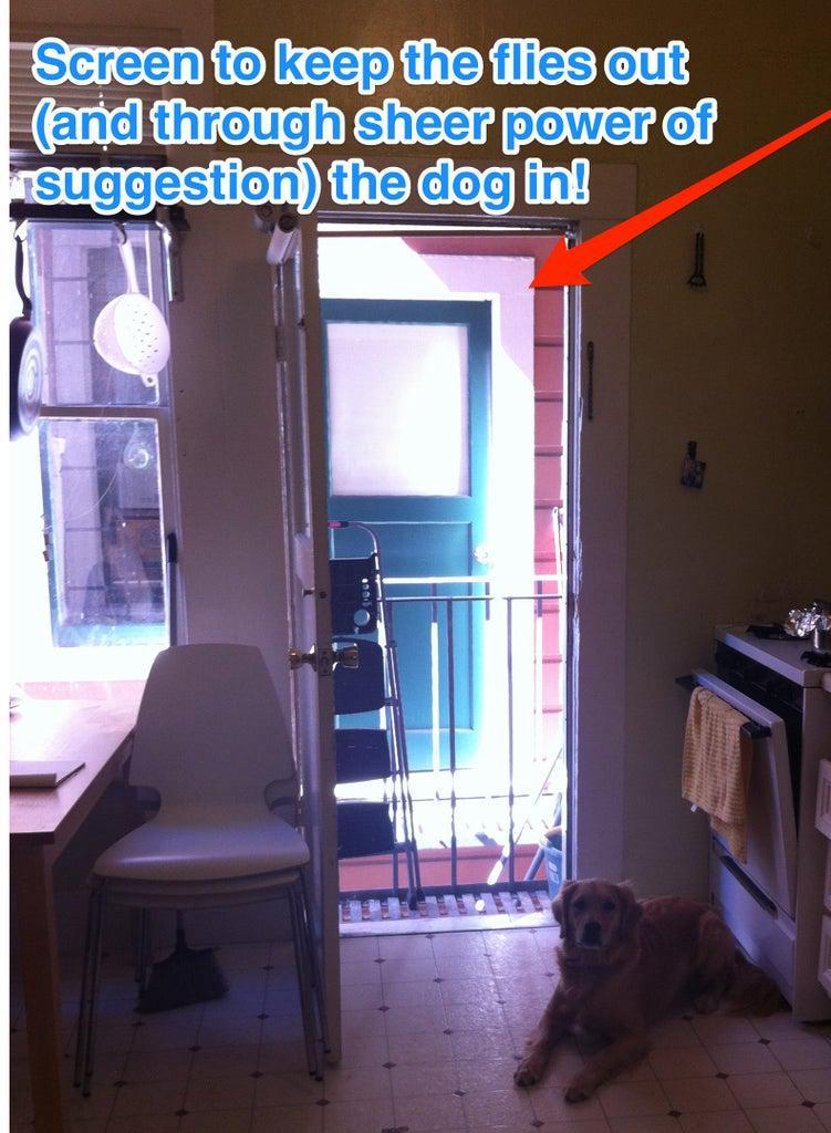 1. Homemade Screen Door