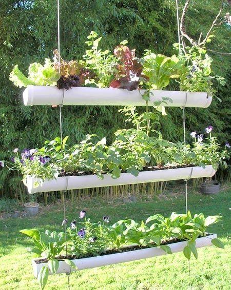 11. DIY PVC Pipe Planter