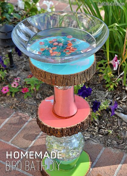 11. Homemade Bird Bath DIY
