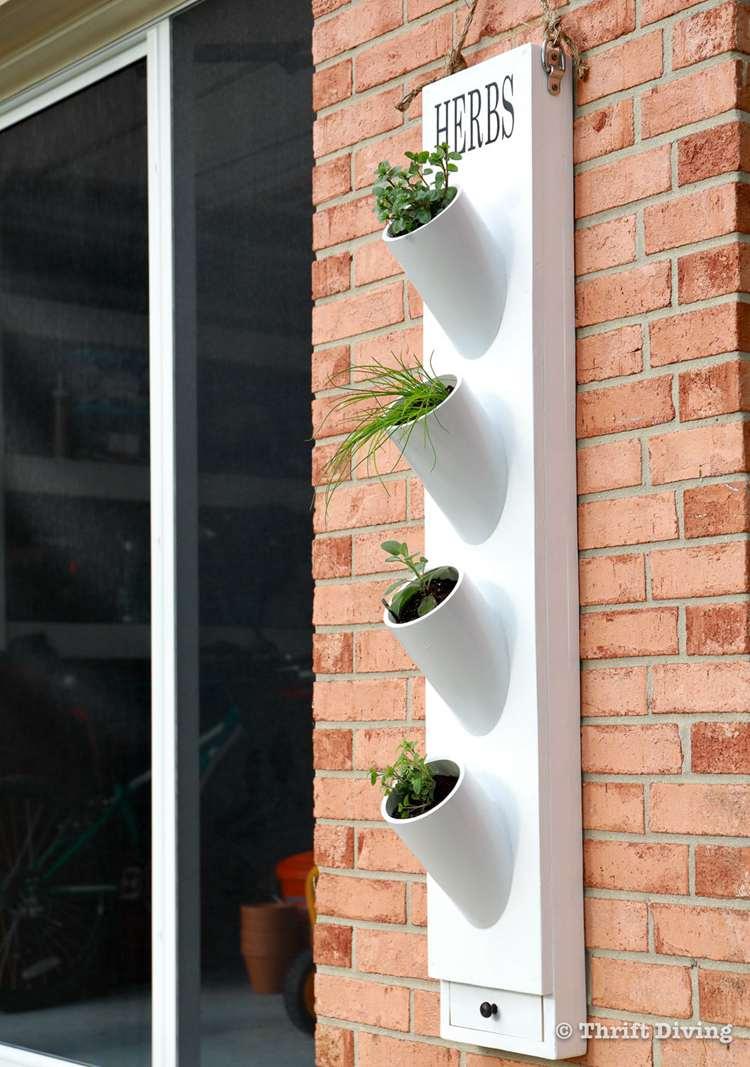12. DIY PVC Pipe Garden