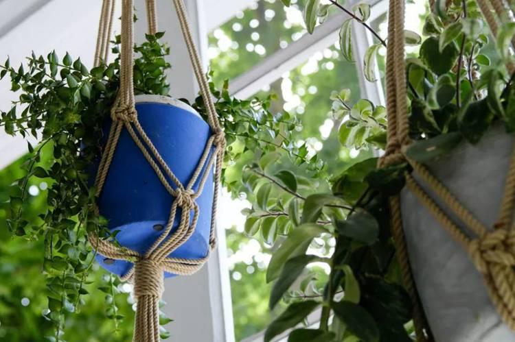 13. DIY Macrame Hanging Planter
