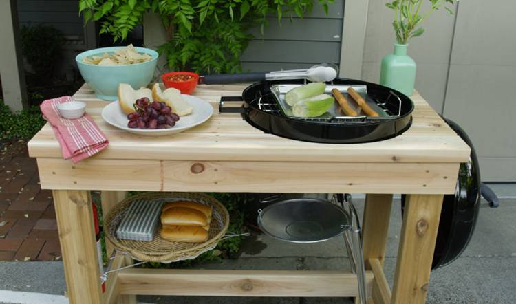13. DIY Outdoor Grill Station