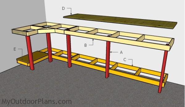 13. Garage Workbench Plans