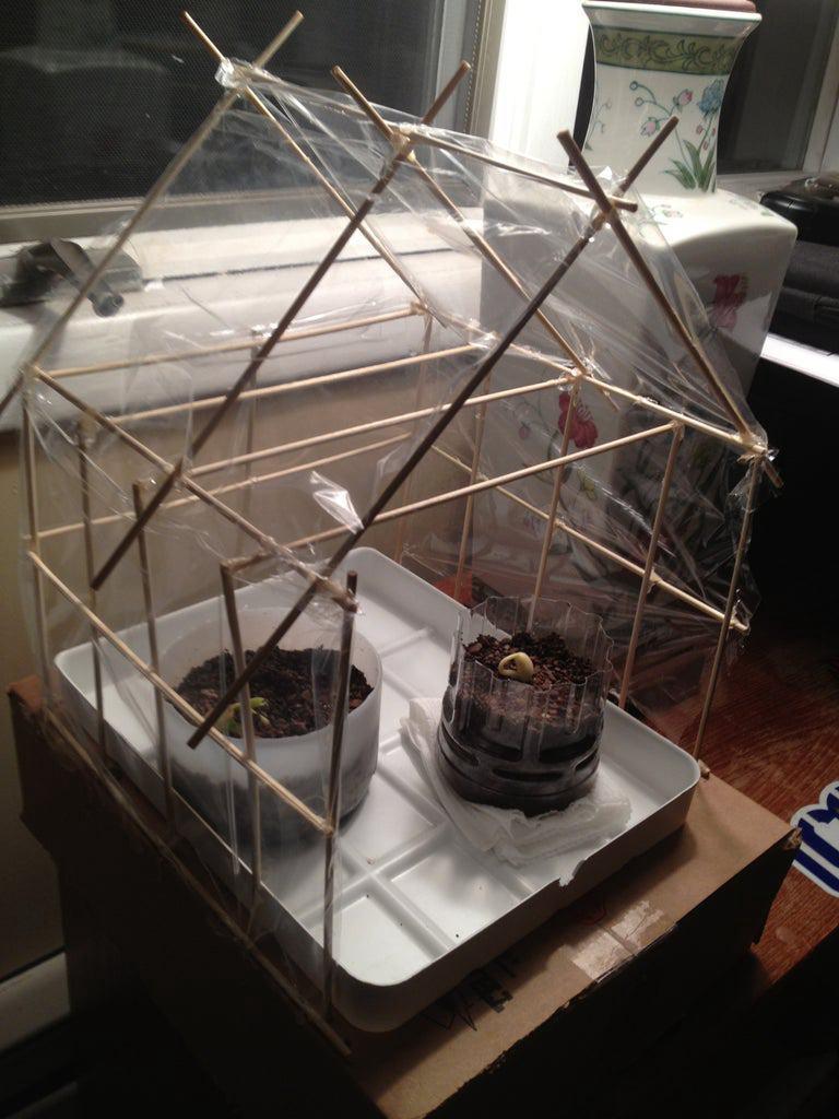 13. Mini Greenhouse DIY