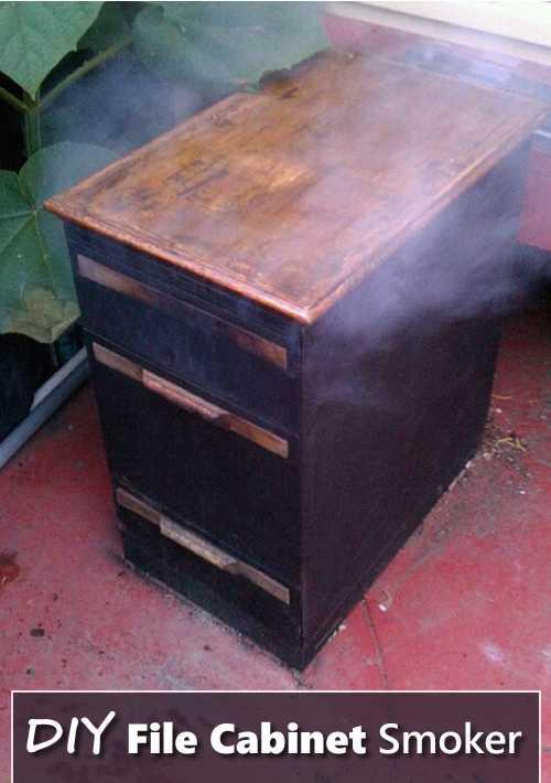 15. DIY File Cabinet Smoker