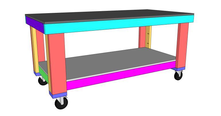 16. DIY Garage Workbench
