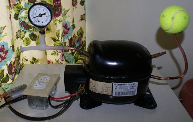 17. DIY Fridge Compressor Vacuum Pump