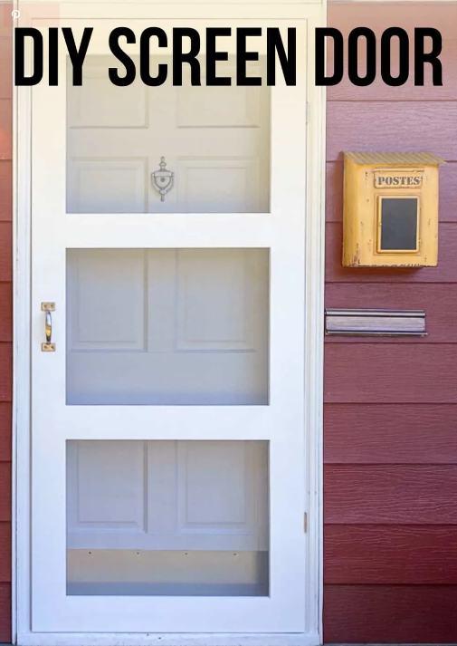 17. DIY Screen Door