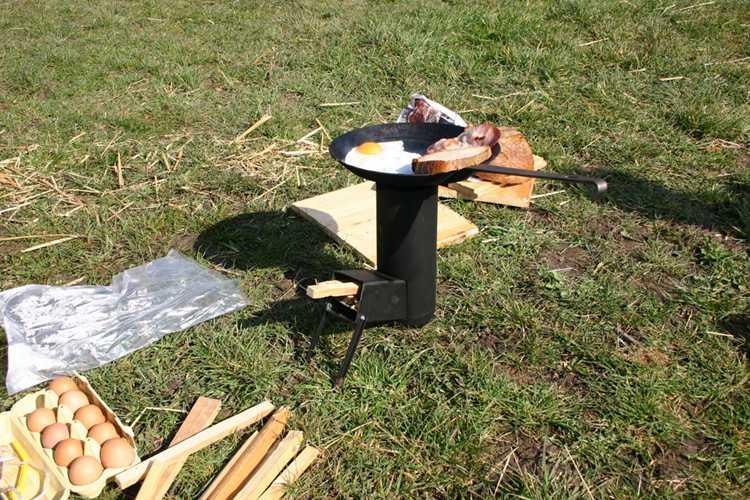 18. DIY Camping Rocket Stove