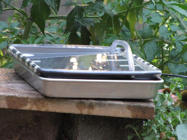 19. Solar Powered Hummingbird Bath