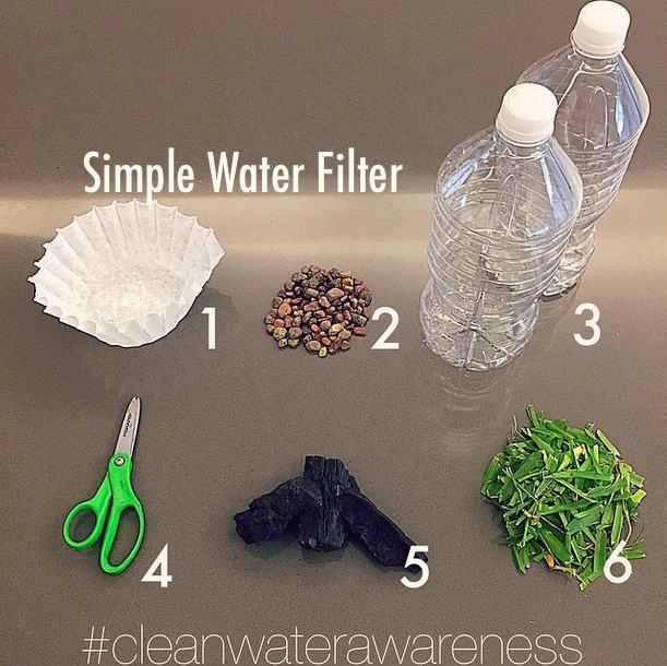20. Simple Water Filter DIY