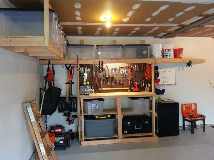 21. DIY Garage Workbench